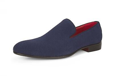 Mens New Casual Formal Navy Suede Slip On Nubuck Shoes SIZE UK 8 9 10 11 12 13