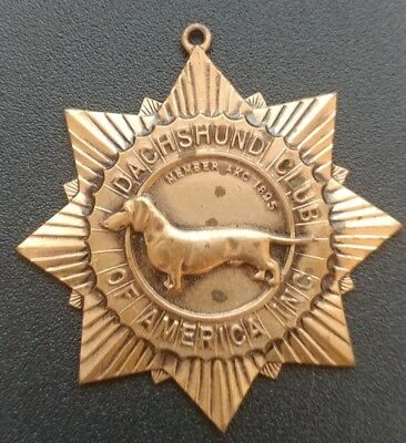 ANTIQUE BRONZE DACHSHUND CLUB of AMERICA INC. Medal