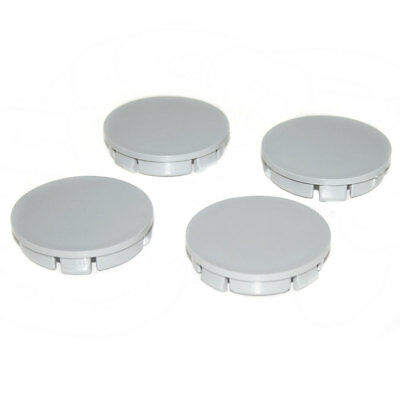 Centre Wheel Tyre Caps 60mm Grey Covers For Opel Vauxhall Corsa Astra H Vectra