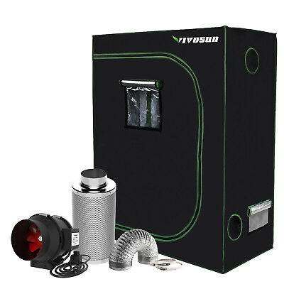 "VIVOSUN 2' x 4' Grow Tent Kit w/ 4"" 6"" Inline Duct Fan Carbon Filter Air Ducting"
