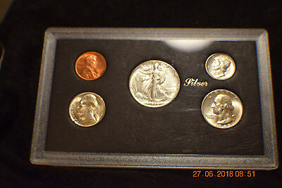 "5 Coin Year Set  /""uncirculated/"".....w//silver nickel!..#1506 1945-P c"
