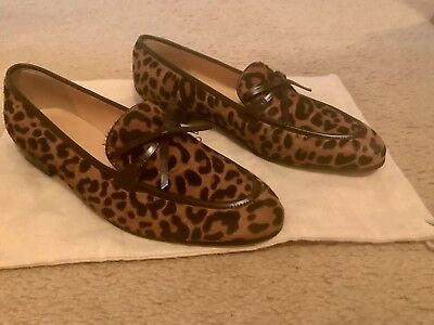 eb001a3f8ab J.CREW ACADEMY LOAFERS In Leopard Calf Hair Size 8