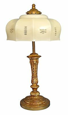 Very Nice Original Art Nouveau Coffee House Lamp Shabby Chic Brass