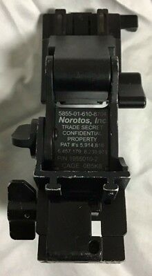 Norotos Titanium Usgi Nvg Rhino Ii Mount, Helmet Night Vision Mount, Black, Used