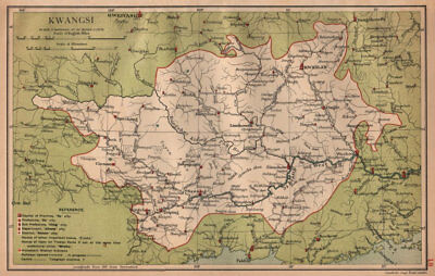 Hubei China province map STANFORD 1908 old Hupeh Wuhan Wuchang