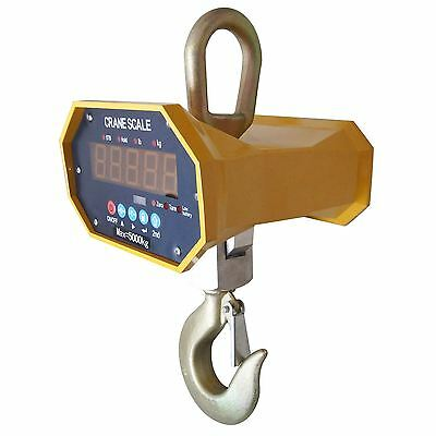 833142N Heavy Duty 5000KG 5Ton Industrial Electronical LCD Hanging Crane Scale