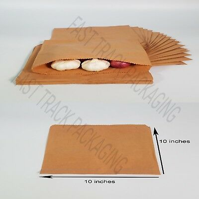 100 x Brown Kraft strong Paper Bags for Sandwiches Groceries Gift Shop