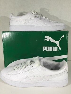promo code 4aa10 a98fa PUMA Basket Classic Mens Size 8.5 White Lace Up Athletic Sneakers Shoes  X12-427