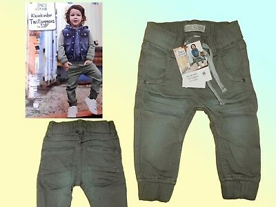 Cool Toddler Trousers twilljoggers Jeans Jogging Jeans Size 74-86 Olive NEW