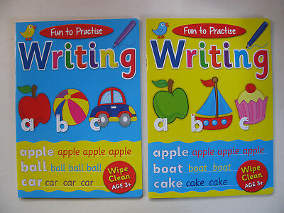 Writing Fun To Practise Wipe Clean Books Numbers Words Alphabet School Learning