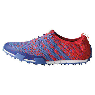 size 40 9bcf0 4f25e NEW Adidas Womens Ballerina Primeknit Golf Shoes Red   Blue Size 6 M Lady