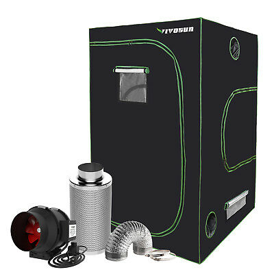 "VIVOSUN 4' x 4' Grow Tent Kit w/ 4"" 6"" 8"" Inline Duct Fan Carbon Filter Ducting"