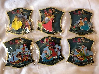Disney Pin Trading Day Princesses&Pirates Set LE500 NEW!