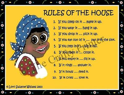 MAMMY MAGNET #61 - Rules Of The House