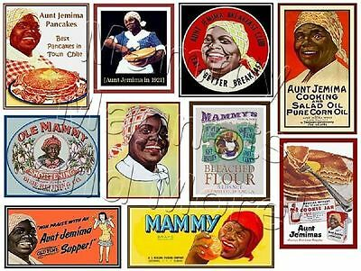 TEN MAGNETS - Aunt Jemima - Black Americana Labels - Ship FREE