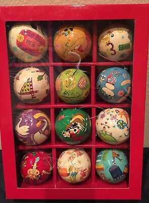 12 days of christmas ornaments crate and barrel