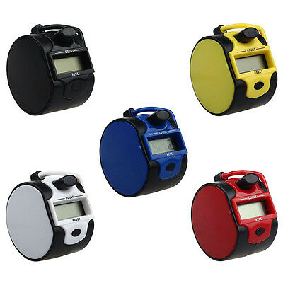 Fashion 5 Digit Electronic LCD Digital Hand Tally Plastic Counter Golf Dock