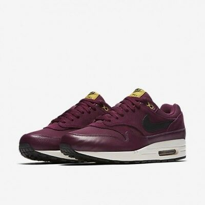 new style 99443 d4fa8 Nike Air Max 1 Premium Mens Shoes Bordeaux Black Moss 875844 601 Sz 14