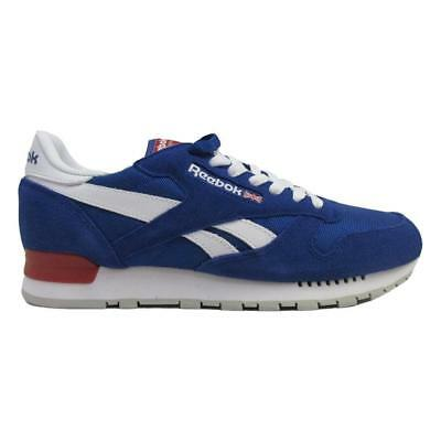 4176e3e4987 Reebok Men s Classic Leather Clip Trainers Running Shoes - BS9273 - Blue