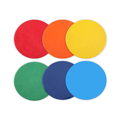1 SET OF 10 RED FLAT RUBBER DISC SPOT MARKERS INDOOR SOCCER FUTSAL BASKETBALL