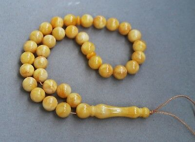 Butterscotch Islamic Baltic Amber prayer Beads 17 gr