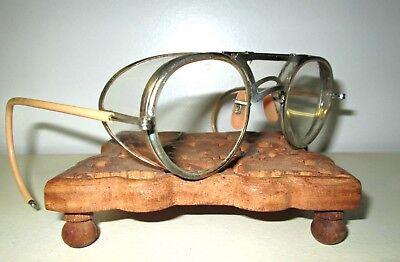 Antique Bausch & Lomb Safety Glasses Goggles Vtg Ray Ban Steampunk B&L Retro Old