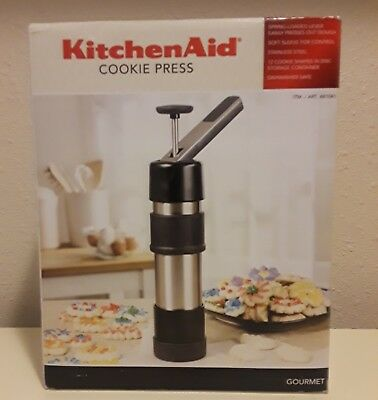 KitchenAid Cookie Press Stainless Steel with Spring-Loaded Lever NEW