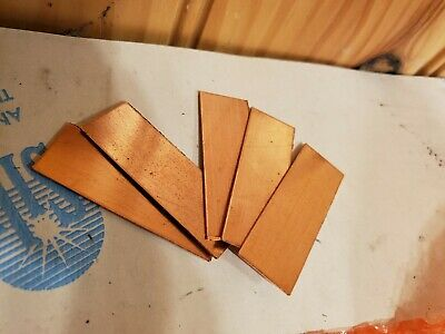 "copper Shim Stock .027 Thick 0.5"" Width. 1.5"" long, 027 0.027 5 pieces"