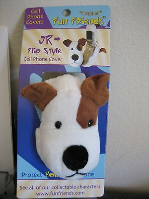 """""""JR"""" Jack Russell Terrier Dog Fun Friends Plush Backpack/Key Chain Fob NEW"""