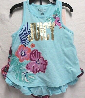 *NEW* Juicy Couture Girl's Two Piece Set Tank Top and Shorts Outfit