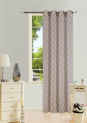 1PC BROWN WHITE SHADES GROMMET VOILE SHEER PANEL WINDOW CURTAIN DRAPE #S38