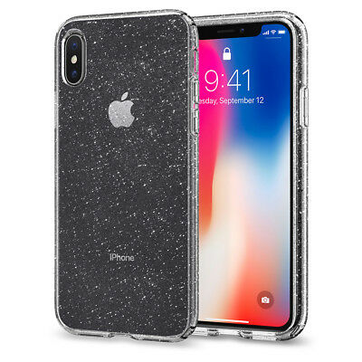 For Apple iPhone X | Spigen® [Liquid Crystal Glitter] TPUShockproof Case Cover