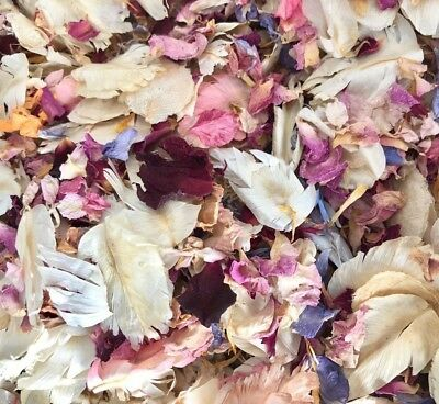 Biodegradable Wedding Confetti Real Dried Flower Petals, Flutterfall Ivory