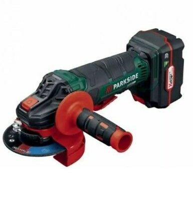 Parkside Cordless Angle Grinder 20v With Battery & Charger  & Carry Box
