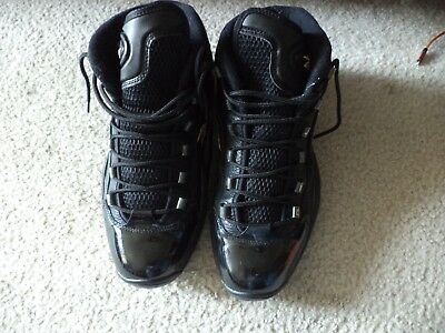 0ae6db820726 Reebok Allen Iverson Mens Black And Gold Basketball Shoes Size 10.5