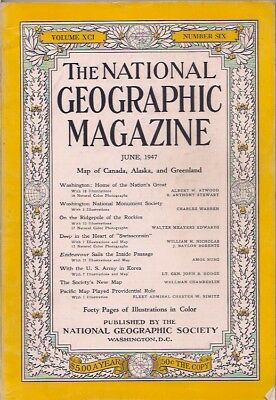 national geographic-JUNE 1947-WITH THE U.S. ARMY IN KOREA.