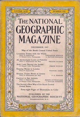 national geographic-DEC 1947-AN ARCHEOLOGIST LOOKS AT PALESTINE.