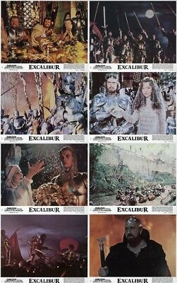 EXCALIBUR (1981) U.S. Lobby Cards Complete Set of 8