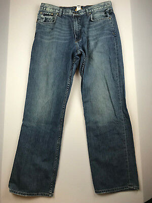 b4289371 LUCKY BRAND Mens size 36 Flapper Boot Leg Fit Flap Pocket Distressed Denim  Jeans