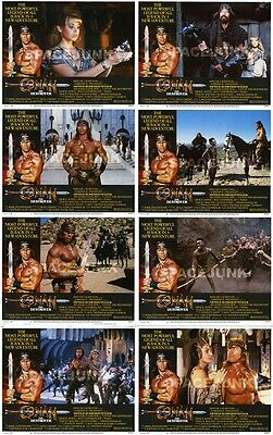 Conan The Destroyer Lobby Cards (1984) Complete Set of 8 (Arnold Schwarzenegger)