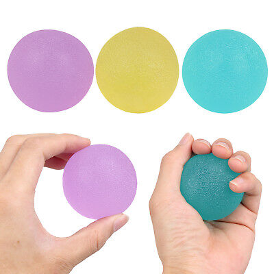 3pcs Finger Exercise Hand Grip Gel Ball Squeeze Egg Soft Therapy Stress Relief