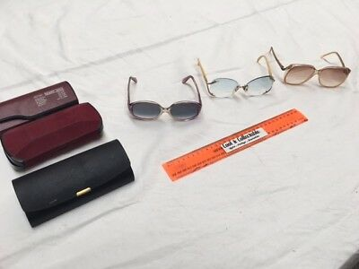 Retro Oversized Eye Glasses Including Christian Dior and Jean Chardin.