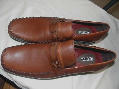 e662f206575 KENNETH COLE REACTION Moc Toe Brown Loafers -10.5 M -  24.00