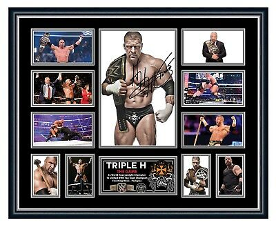 Triple H Wwe Signed Limited Edition Framed Memorabilia