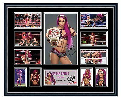 Sasha Banks Wwe Signed Limited Edition Framed Memorabilia