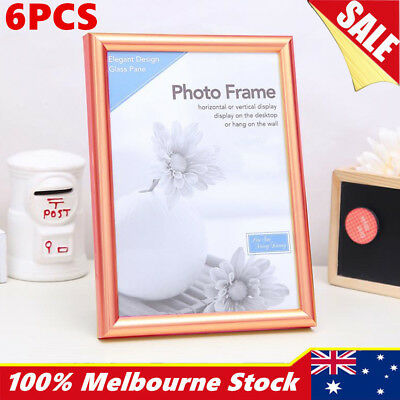 """Rose Gold A4 4""""x6"""" x 8""""x10"""" 5""""x7"""" Certificate Photo Picture Glass Frame set"""