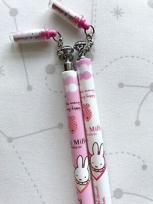 2pcs Miffy Mechanical Pencil Baby Pink White Cute Stationery Bunny Rabbit Gifts
