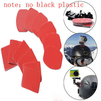 6PC Helmet Pat Flat Curved Adhesive Accessories for Gopro Hero 1 2 3(no mount)