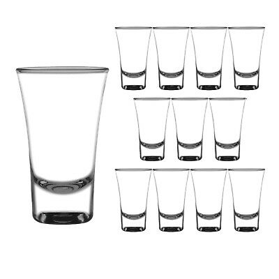 12x Double Shot Glass 60ml Olympia Commercial Bar Shooter Shots Glasses NEW