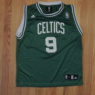 official photos ed136 15240 RAJON RONDO BOSTON Celtics Jersey Youth Green Adidas Boys Size Large